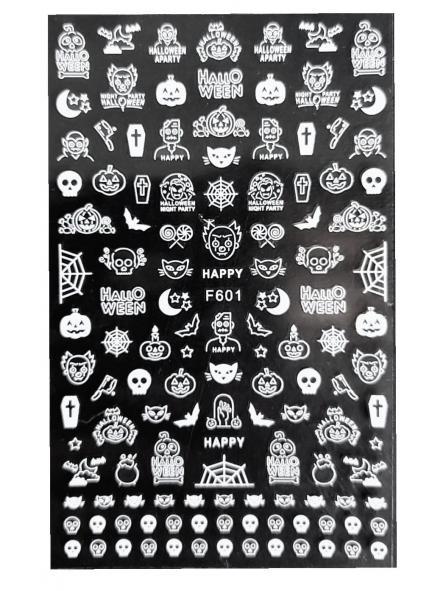 Stickers Halloween F601 Blanco