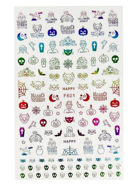 Stickers Halloween F601 Colorido
