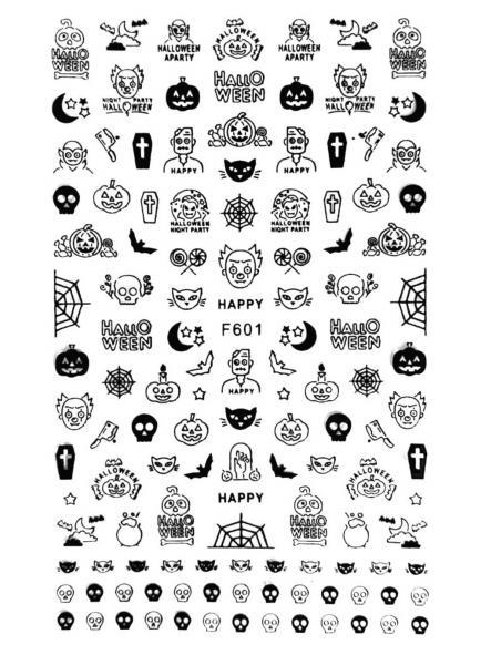 Stickers Halloween F601 Negro