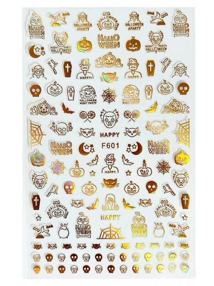 Stickers Halloween F601 Oro
