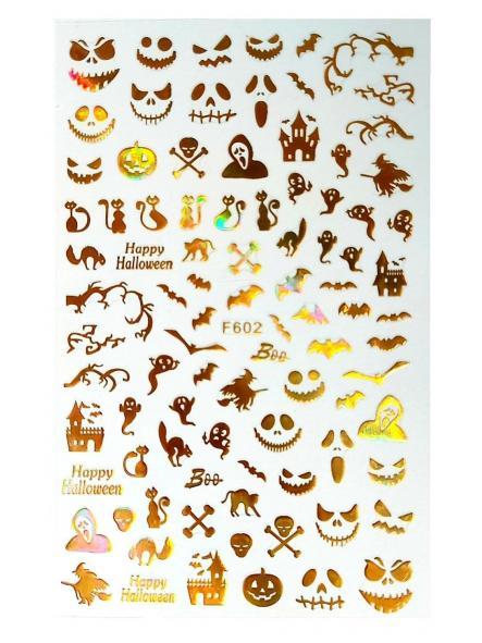 Stickers Halloween F602 Oro