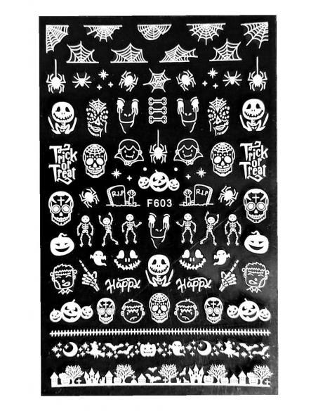 Stickers Halloween F603 Blanco