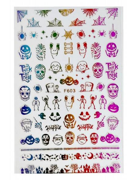 Stickers Halloween F603 Colorido