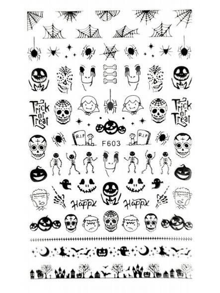 Stickers Halloween F603 Negro