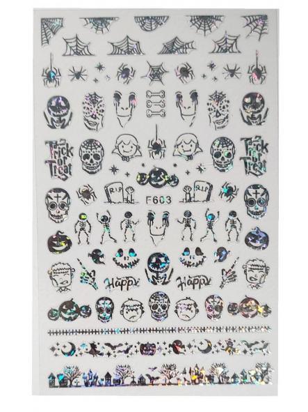 Stickers Halloween F603 Plata