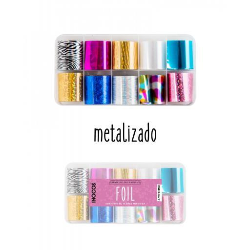 Foil Metalizado Inocos (10 láminas)