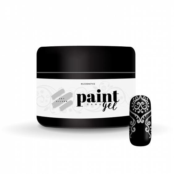 Gel paint Jet silver Biucosmetics