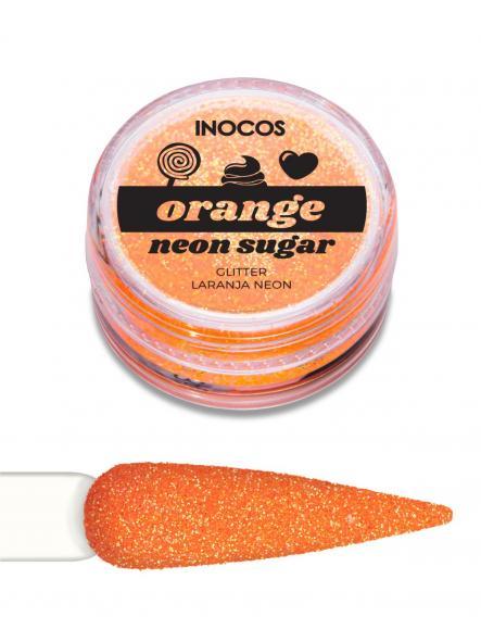 Polvo de glitter Naranja neón Inocos