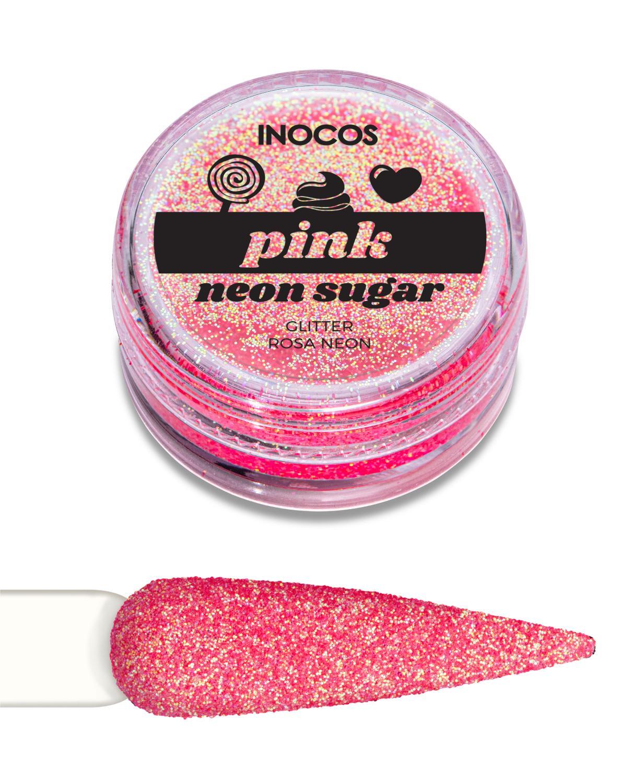 Polvo de glitter Rosa neón Inocos
