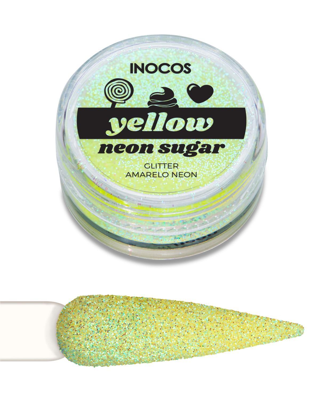 Polvo de glitter Amarillo neón Inocos