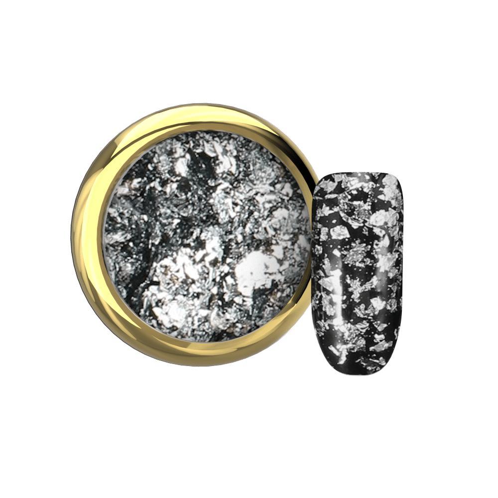 Flake foil silver Makear