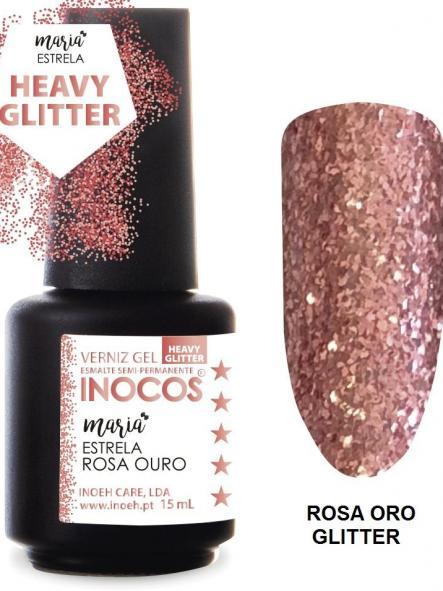 Esmalte Inocos *Estrela rosa ouro*