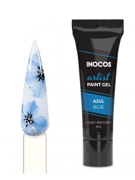 Gel paint Azul 3D Inocos