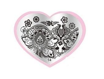 Placa stamping corazón 14