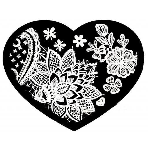 Placa stamping corazón 27