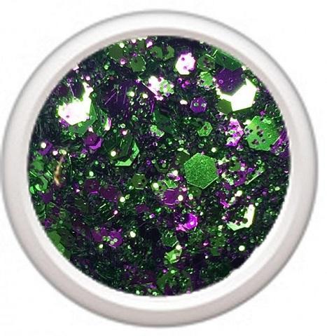 Polvo de glitter Crispy green