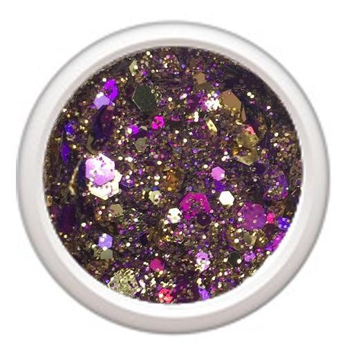 Polvo de glitter Crispy purple gold