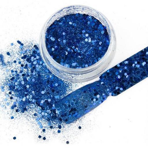 Polvo de glitter Crispy deep blue