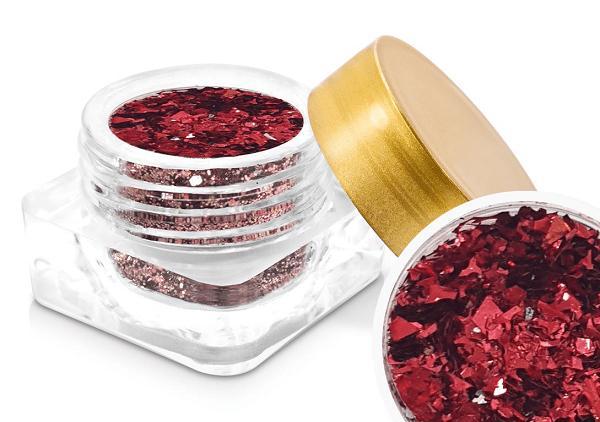 Polvo de glitter Crispy foil red