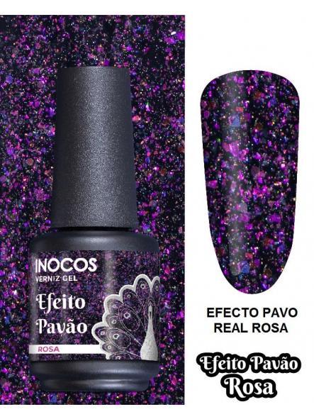 Esmalte Inocos *Efeito pavão rosa*