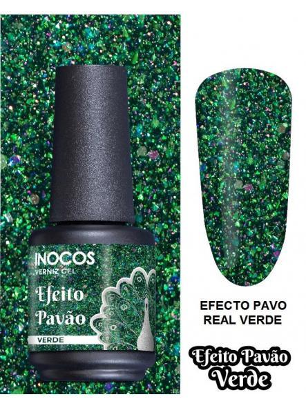 Esmalte Inocos *Efeito pavão verde*