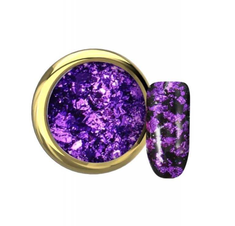 Flake foil violet Makear