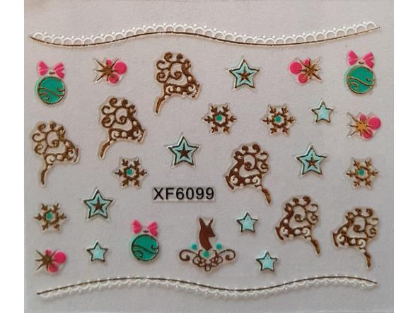 Stickers navideños xf-6099