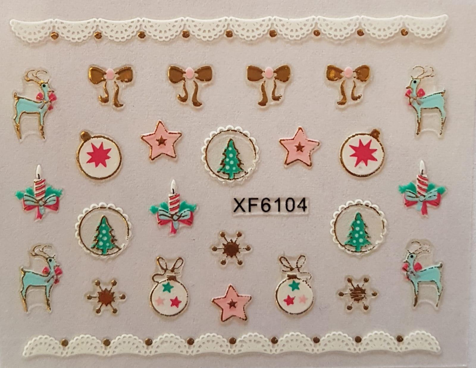 Stickers navideños xf-6104