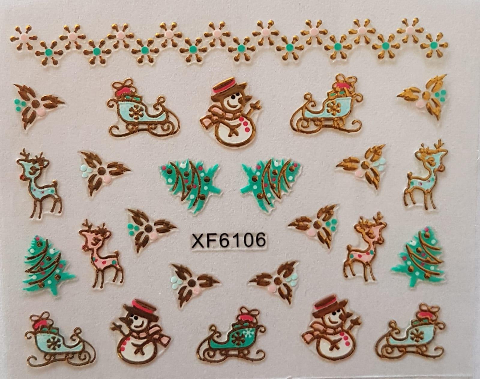 Stickers navideños xf-6106