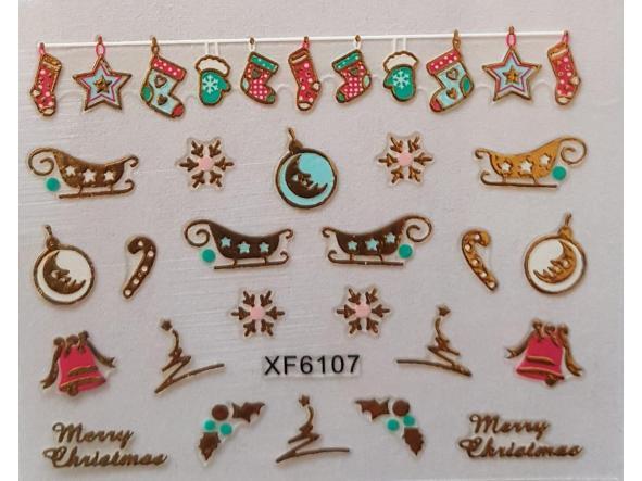 Stickers navideños xf-6107