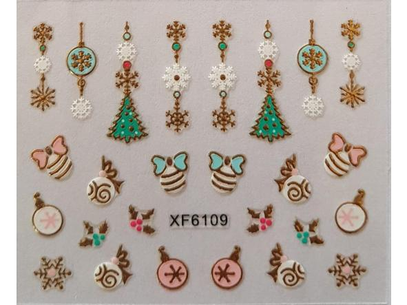 Stickers navideños xf-6109