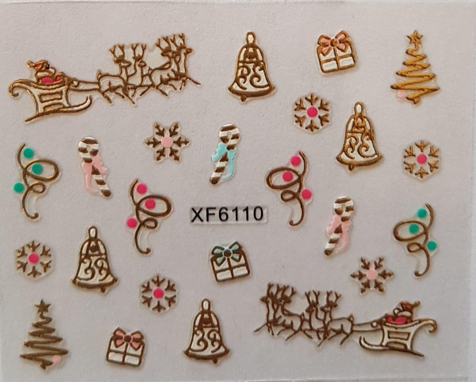 Stickers navideños xf-6110