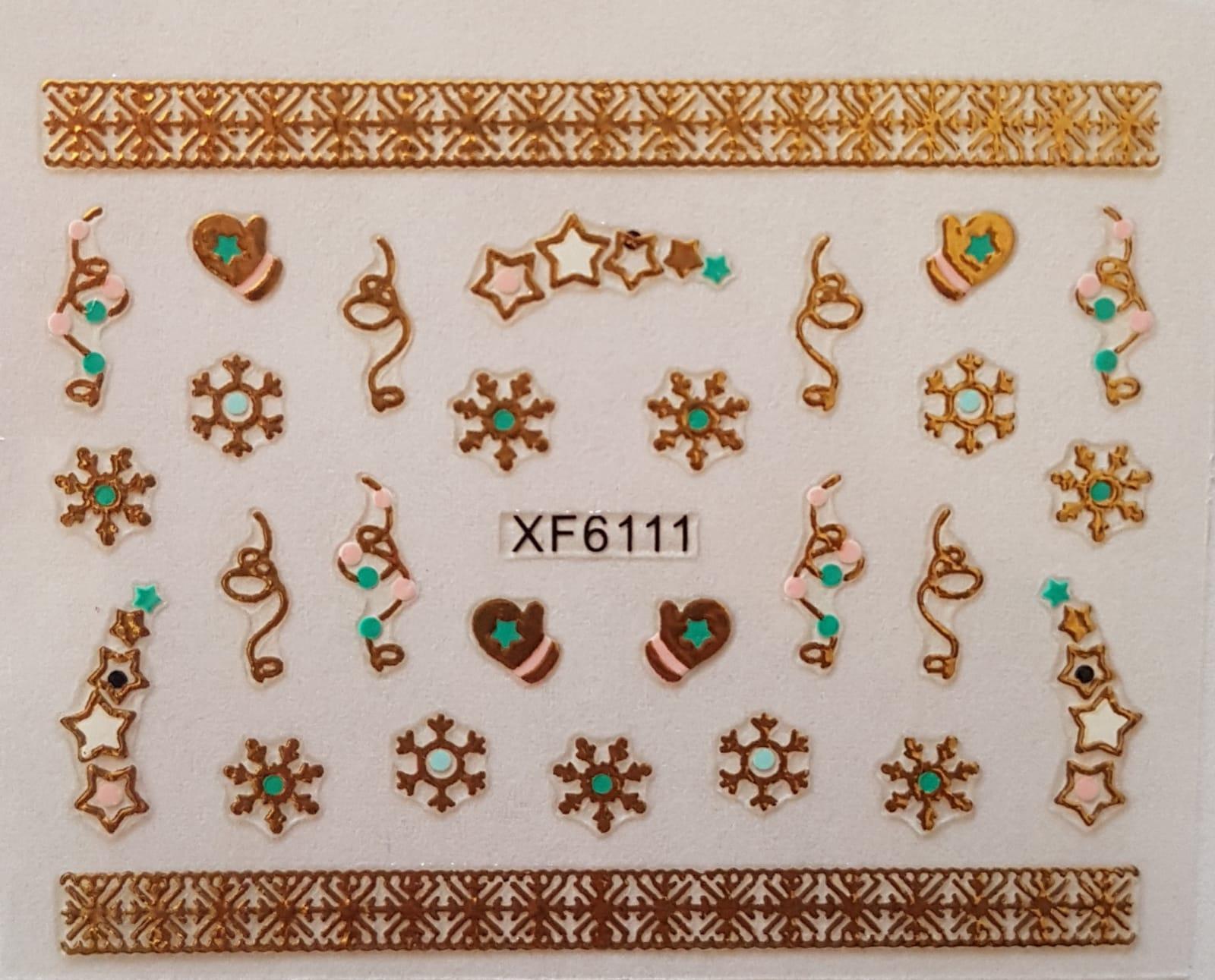 Stickers navideños xf-6111