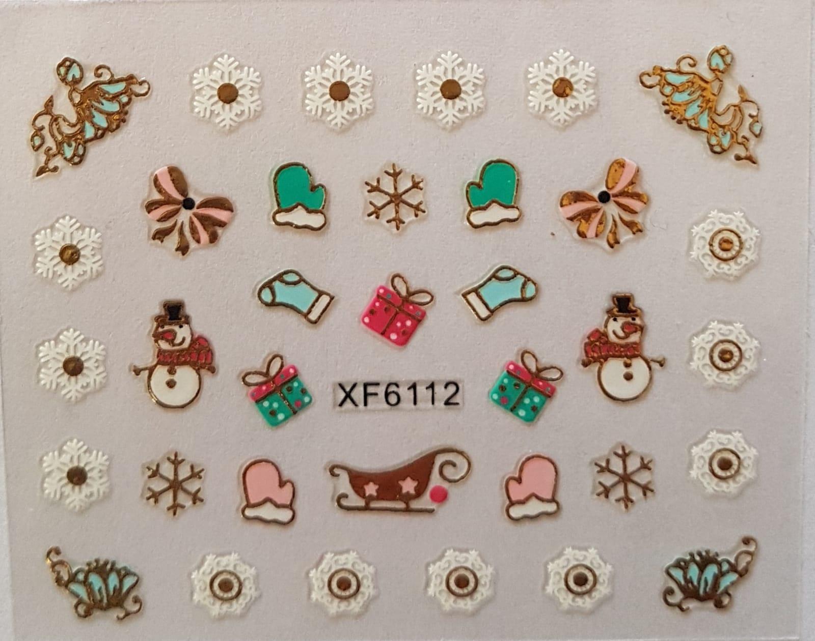 Stickers navideños xf-6112