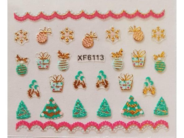 Stickers navideños xf-6113