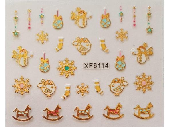 Stickers navideños xf-6114