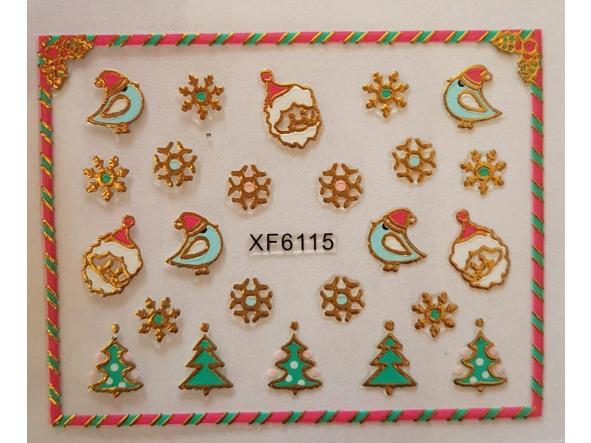 Stickers navideños xf-6115