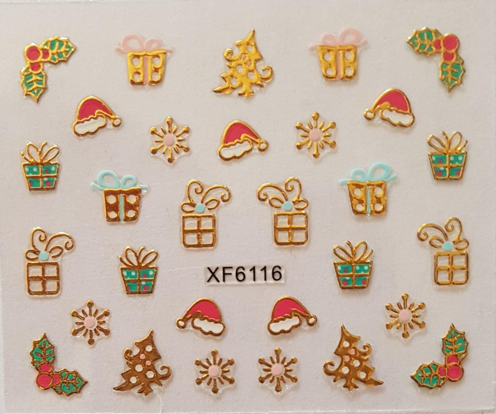 Stickers navideños xf-6116
