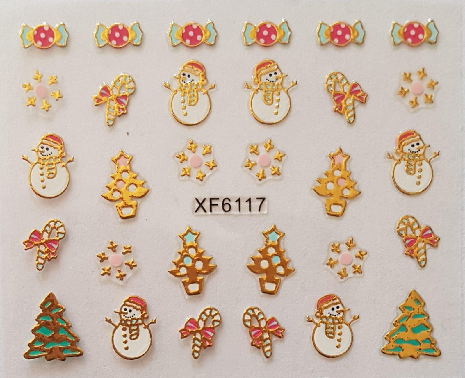 Stickers navideños xf-6117