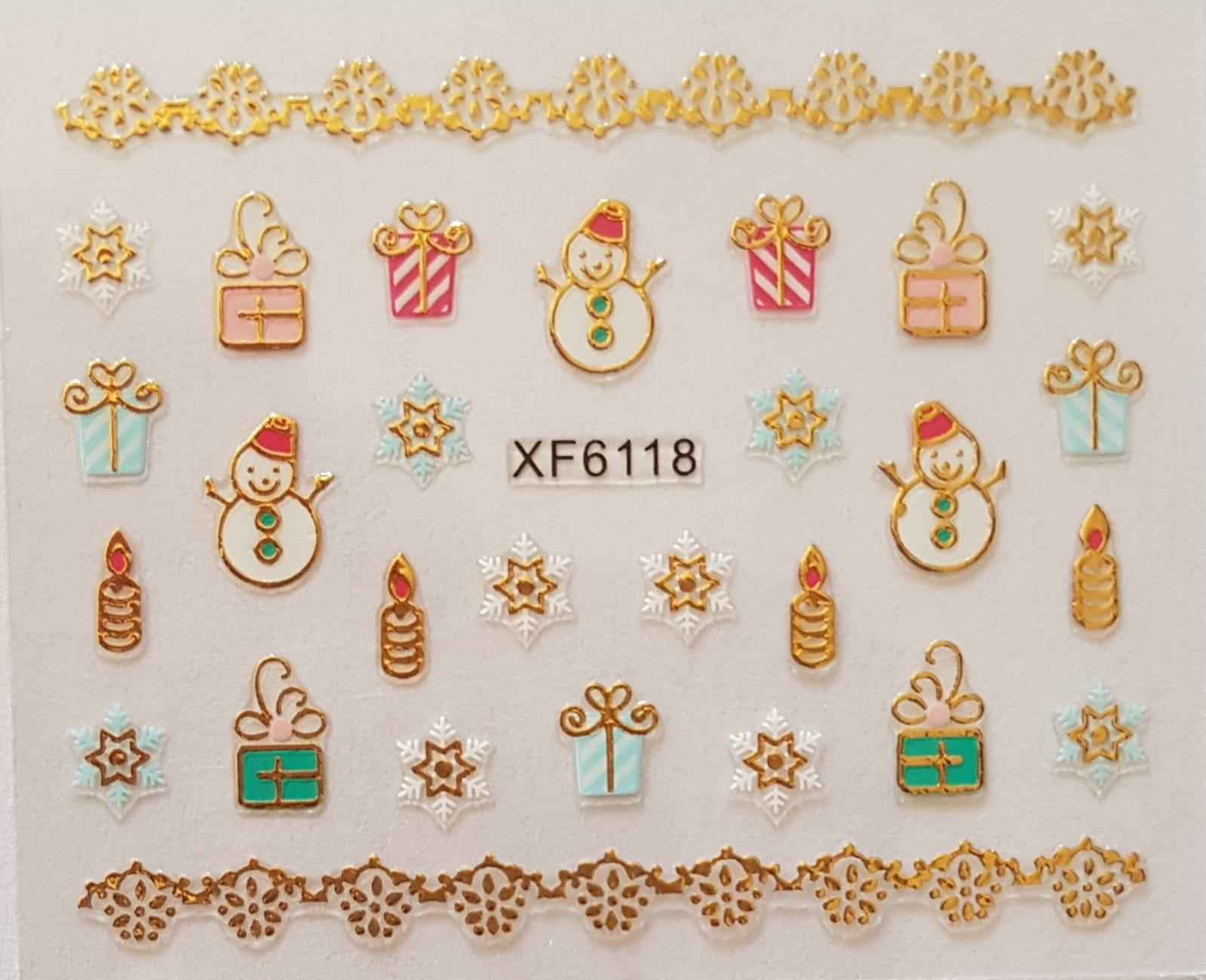 Stickers navideños xf-6118