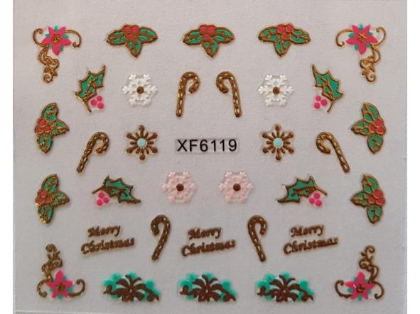 Stickers navideños xf-6119