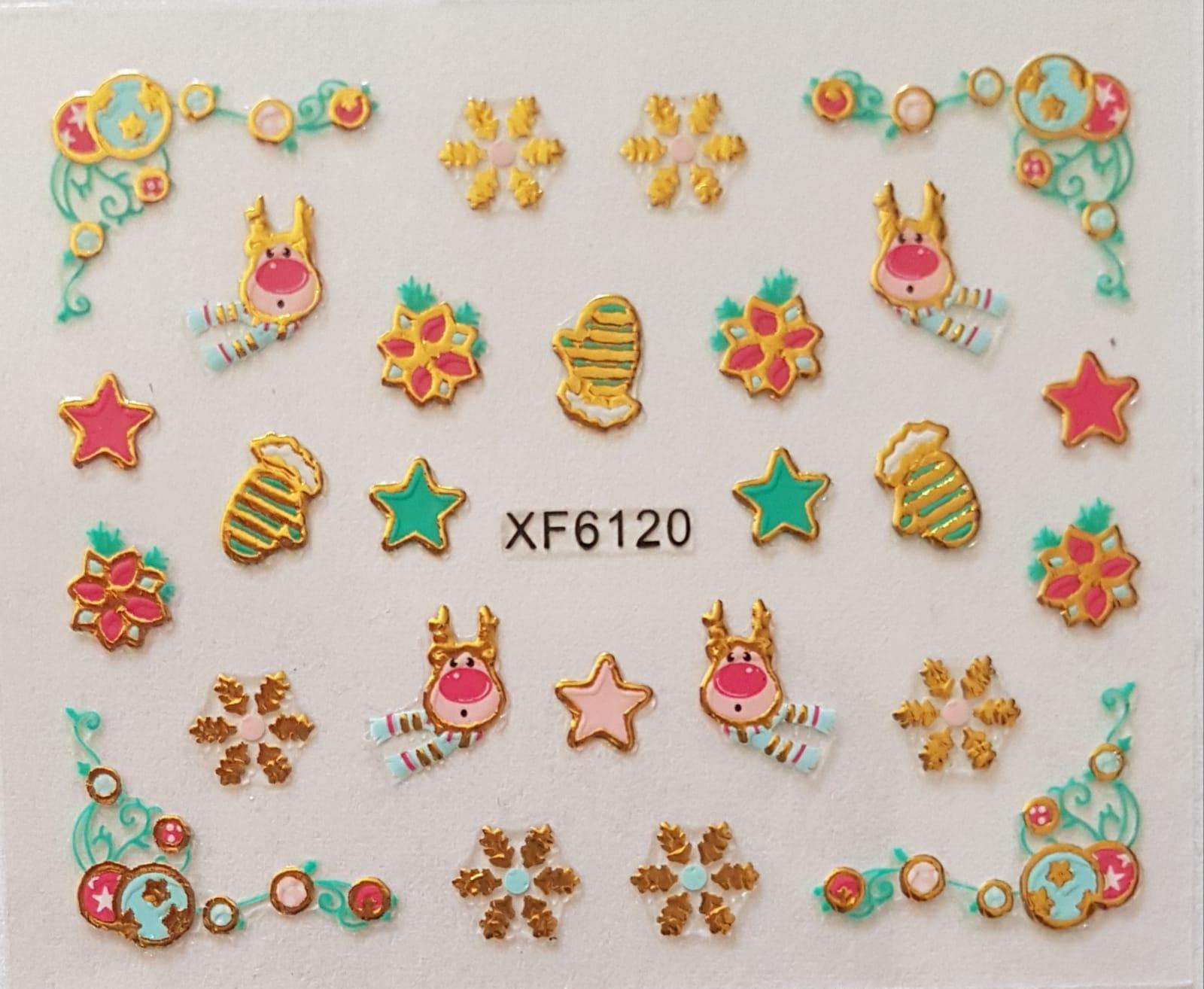 Stickers navideños xf-6120