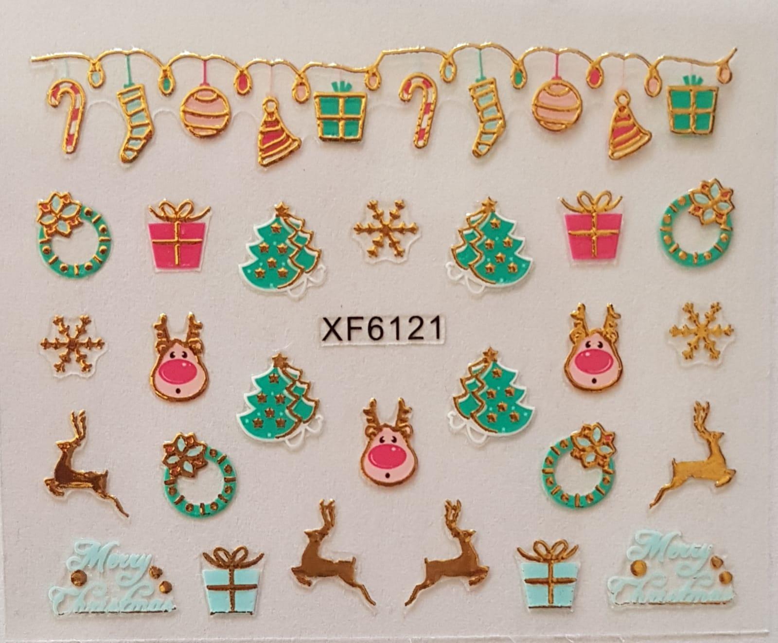 Stickers navideños xf-6121