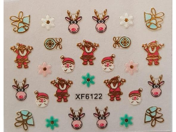 Stickers navideños xf-6122