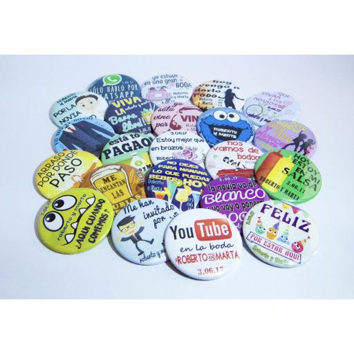 CHAPAS PERSONALIZADAS 50mm PACKS