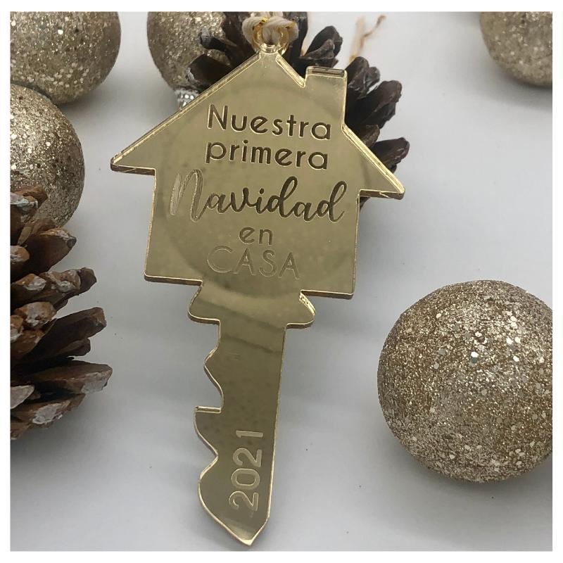 adorno navidad llave hogar