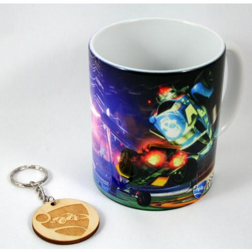 HobbyElx Taza y Llavero Rocket League