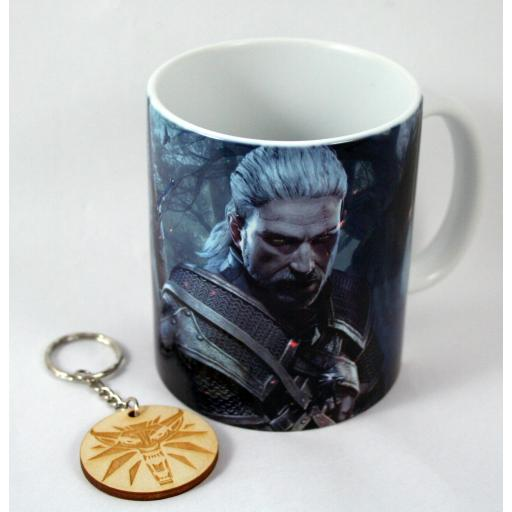Taza y Llavero The Witcher 3