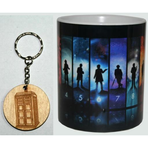 Taza y Llavero Doctor Who