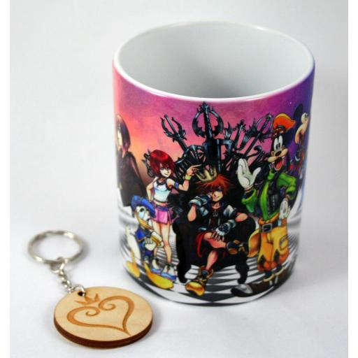 Taza y llavero kingdom hearts